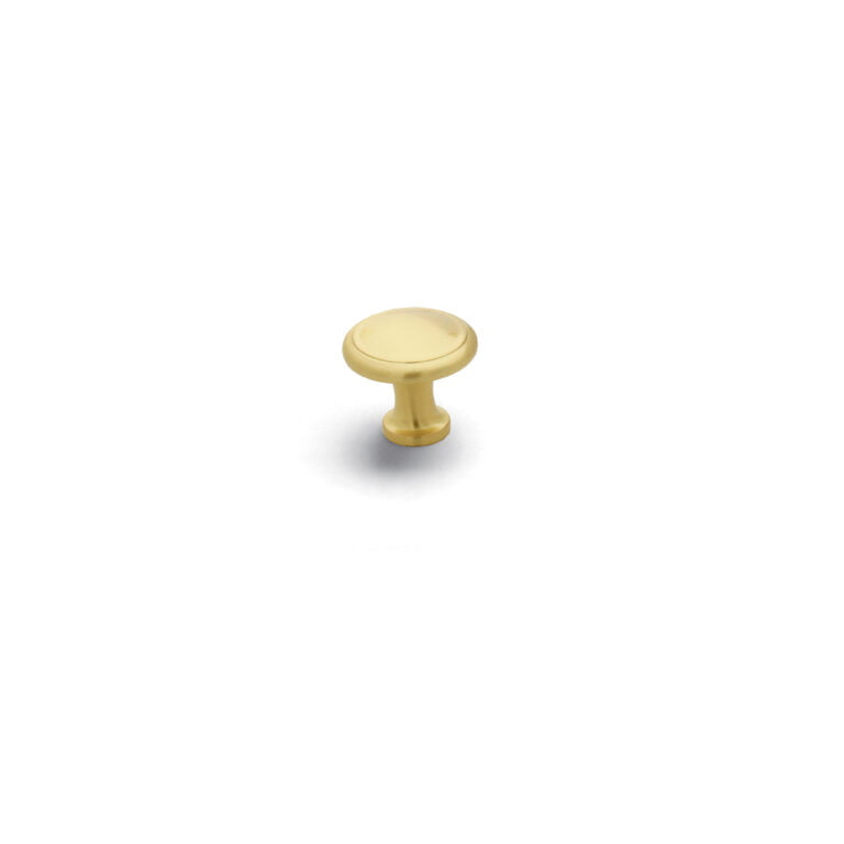 Button Knob Satin Brass
