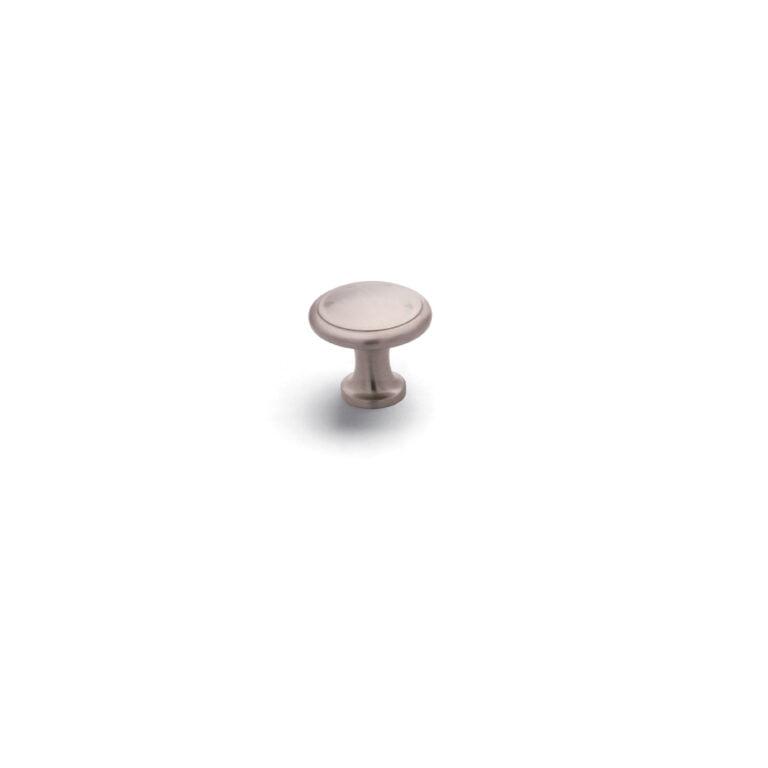 Button Knob Satin Nickel