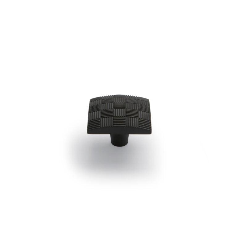Large Parquet Knob Black
